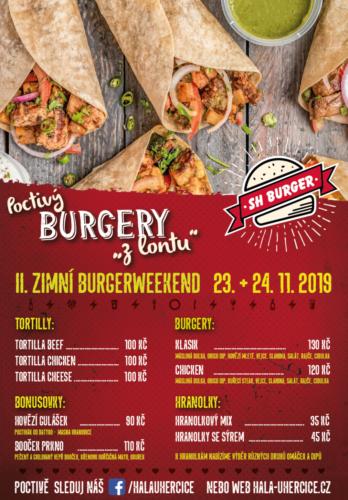 Burgery, tortilly, jídlo, cattering, Uherčice